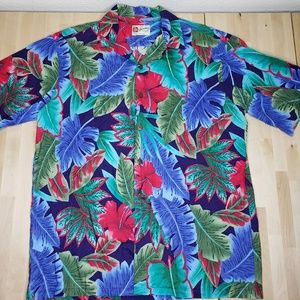 HILO HATTIE Mens Hawaiian SHIRT Floral